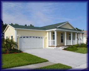 manufactured home with attached gargage